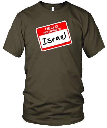 Hello, My Name is Israel Fine Jersey T-Shirt, Army, L