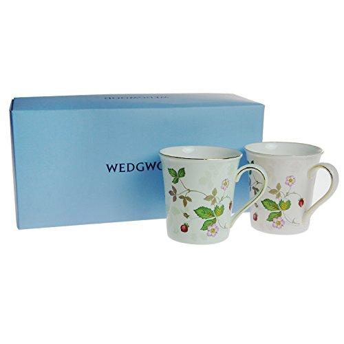 【ブランドBOX付き】ウェッジウッド(WEDGWOOD)ワイルドストロベリーパステルビーカー グリーン&ピンク カップルセット【並行輸入品】