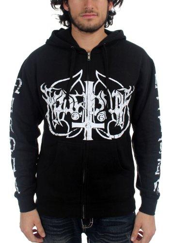 Marduk-Wolf-Felpa con cappuccio da uomo con Logo, colore: nero nero X-Large