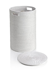 White Weave Laundry Basket