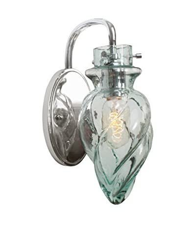 Varaluz Vintage 1-Light Vanity, Chrome/Clear