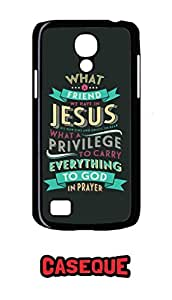 Caseque What a Friend we have in Jesus.. Back Shell Case Cover for Samsung Galaxy S4 Mini