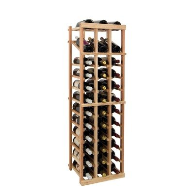 3 Ft. 3-Column Wine Rack (Premium Redwood - Unstained) front-581399