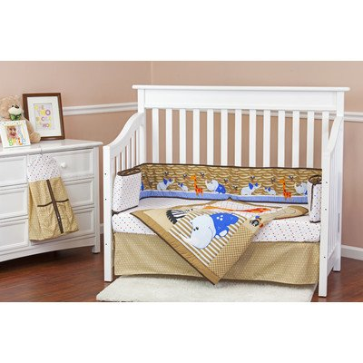 Dream On Me Jungle Babies 5 Piece Crib Reversible Full Size Crib Set - 1