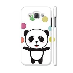 Colorpur Juggling Circus Panda Designer Mobile Phone Case Back Cover For Samsung Galaxy E5 | Artist: Torben