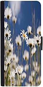 Snoogg Daisiesdesigner Protective Flip Case Cover For Sony Xperia Z1 Compact