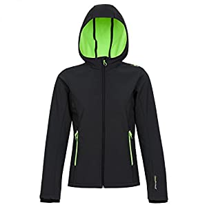 CMP Mädchen Softshell Jacke, Antracite/Frog, 98, 3A29385N