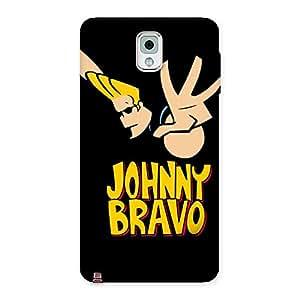 Impressive Brave Black Back Case Cover for Galaxy Note 3