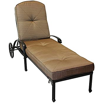 Heritage Outdoor Living Nassau Cast Aluminum Chaise lounge - Antique Bronze