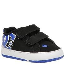 DC Court Graffik Skate Shoe (Toddler/Little Kid/Big Kid),Black/White/Royal,3 M US Toddler