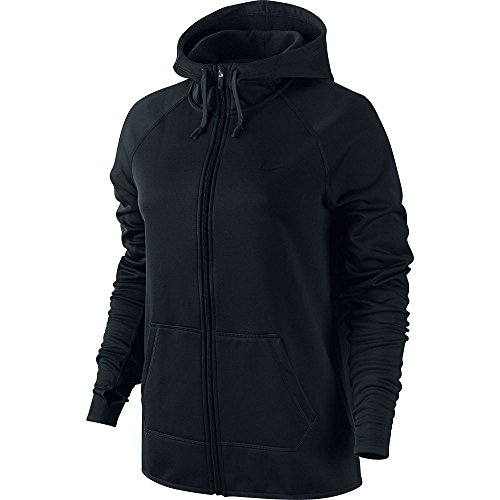 Nike Womens Therma All Time Full-Zip Hoodie (Black, X-Small)