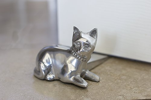 Decorative cat door stopper by comfify hand cast