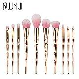 GUJHUI New 10PCS Make Up Foundation Eyebrow Eyeliner Blush Cosmetic Concealer Brushes