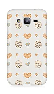 Amez designer printed 3d premium high quality back case cover for Samsung Galaxy J2 (Cute Pattern)