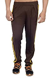 ahhaaaa Brown Regular Fit Cotton Trackpant for Men (X-Large)