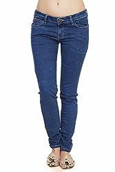 Soie Women's Slim Fit Jeans (D-04_Blue_28)