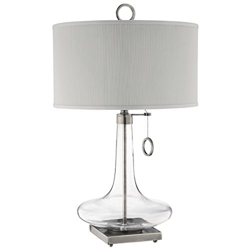 Stein World Furniture Eden Glass Bottle Table Lamp, Clear Glass, Brushed Silver Sand Base