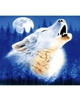 Wolf Polar Fleece Throw Blanket 50x60