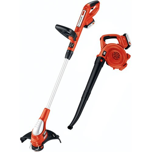 New Black & Decker LCC220 20-Volt Max Trimmer and Sweeper Combo Kit