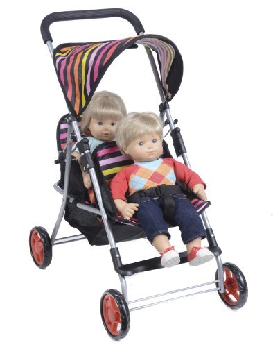 DOLL Twin Stroller Front and Back