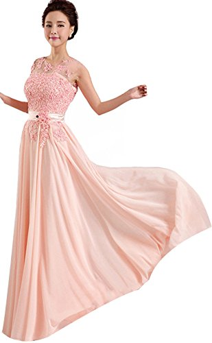 Pink Long Formal Evening Prom Party Dress Bridesmaid Dresses Ball Gown New
