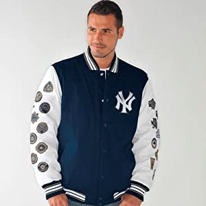 New York Yankees Box and 1 World Series Champs Commemorative Canvas Jacket by G-III Sports