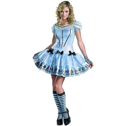 Alice in Wonderland - Women's Costume: Sassy Alice in Wonderland- Large
