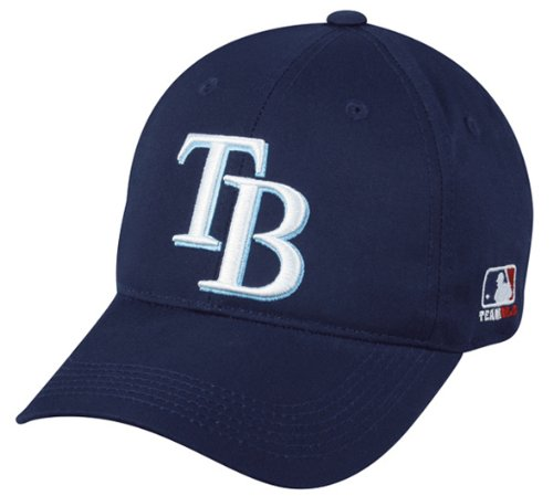MLB YOUTH Tampa Bay RAYS Home Navy Blue Hat Cap Adjustable Velcro TWILL New