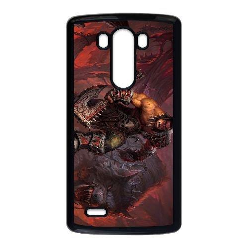 LG G3 Cell Phone Case Black Grommash Hellscream VCE_01781
