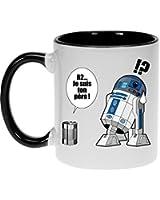 Okiwoki - Mug Geek - Parodie Star Wars - Boîte de conserve ... - Mug Noir 30 cl
