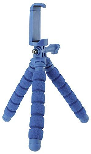 Rollei Monkey Pod Mini Cavalletto Compatto Adattabile per Smartphone, Actioncam e Videocamere Compatta, Blu