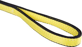 Mazzella EE4 Edgeguard Polyester Web Sling, Eye-and-Eye, Yellow, 4 Ply, Flat Eyes, Vertical Load Capacity