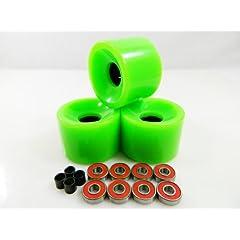 Buy Big Boy 65mm Longboard Skateboard Wheels + ABEC 7 Bearings Spacers by Big Boy