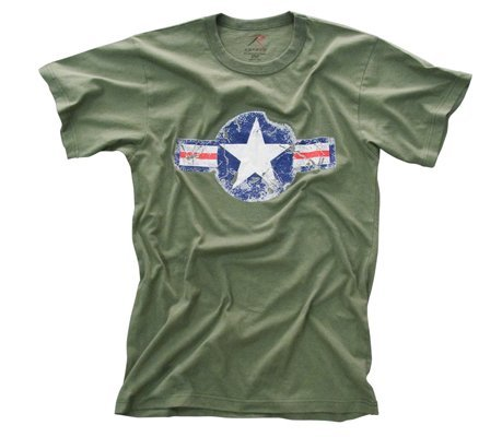 Army Air Force Olive Drab Vintage Cool Retro T-Shirt - X-Large