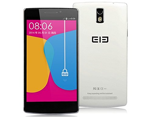 Elephone G5 5.5 Smartphone IPS 1280×720 Android 4.4.2 MTK6582 Quad Core 1.3GHz 1GB RAM 8GB ROM 13MP Gesture Wake Up Gesture Recognition Gesture Sensing (White)