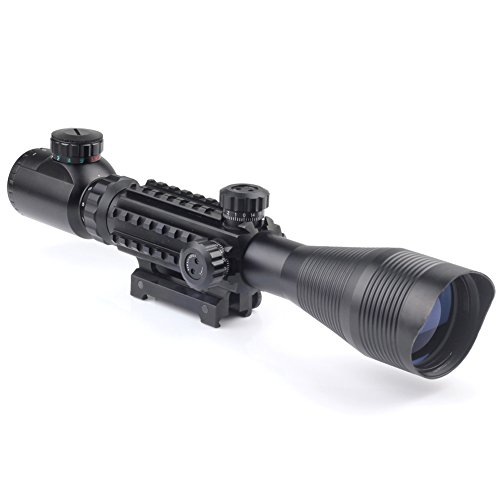 Very100 Mil Dot 4-12X50Eg Riflescope Illuminated Recticle Green&Red Cross Mounting
