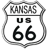 Route 66 Kansas State Highway Road Tin Sign