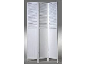 3 Panel Room Divider - White Wood By H.P.P