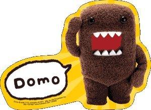 Domo-Kun Saluting Sticker DS579