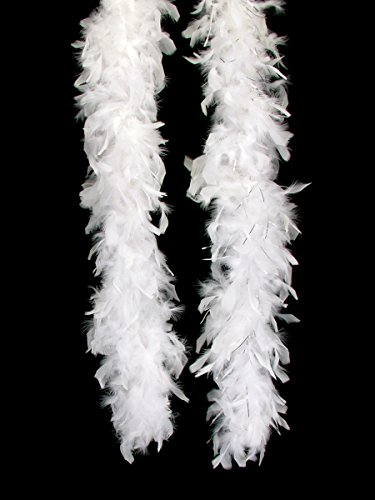 "Loftus International Long Fluffy Feather Vegas Boa, White, One Size/72"" - 1"