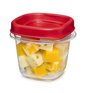 Rubbermaid  Easy Find Lid Square 1/2-Cup Food Storage Container, 2 pack