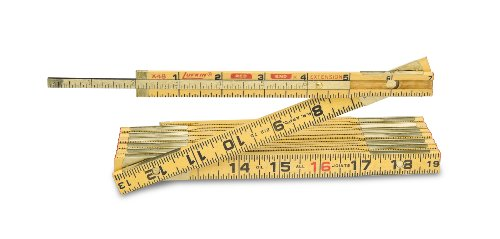 Coopertools X48 8-Inch x 5/8-Inch Wood Extendable Folding Ruler