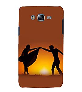 printtech Love Couple Dance Sunset Back Case Cover for Samsung Galaxy Quattro i8552 / Samsung Galaxy Quattro Win i8552