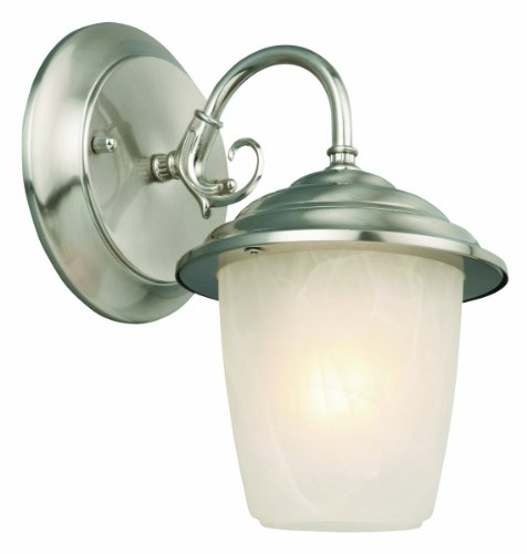 Design House 519496 Millbridge Collection 7-1/2-Inch Outdoor Down light-Satin with Alabaster Glass, Nickel Finish Reviews