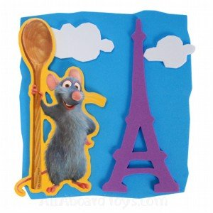 Disney Ratatouille Party Foam Activity Kit Party Favors (4 Count)