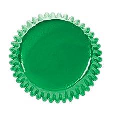 45 x metálico verde de Cupcake/juego de envoltorios para magdalenas