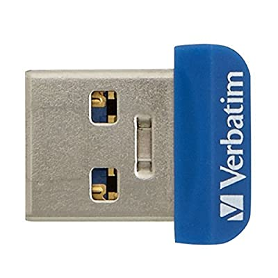 Verbatim 64 GB Store 'n' Stay Nano USB 3.0 Flash Drive, Blue 98711