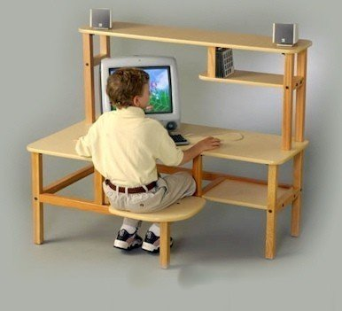 Buy Low Price Comfortable Wild Zoo Furniture HTCH MPL-TAN-WZ Hutch for Buddy and Computer Desks in Maple with Tan Trim (B0029KYWI0)