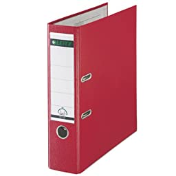 Binder: Leitz A4 with 180� mechanism, width: 80 mm, red