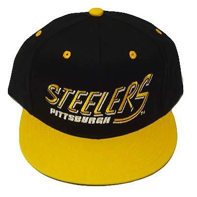 Nfl Pittsburgh Steelers Blk Old School Snapback Cap Hat